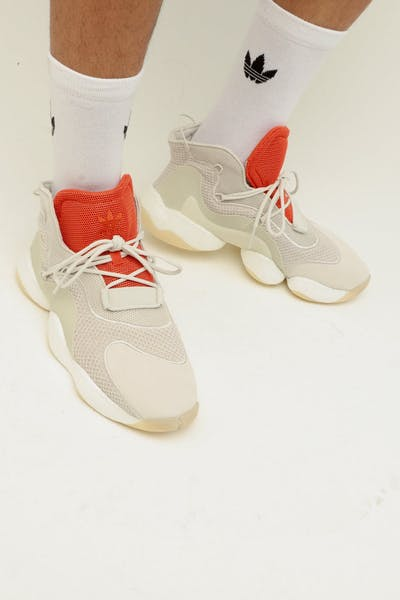 timeless design 84545 1ccdf Adidas Crazy BYW WhiteOrange
