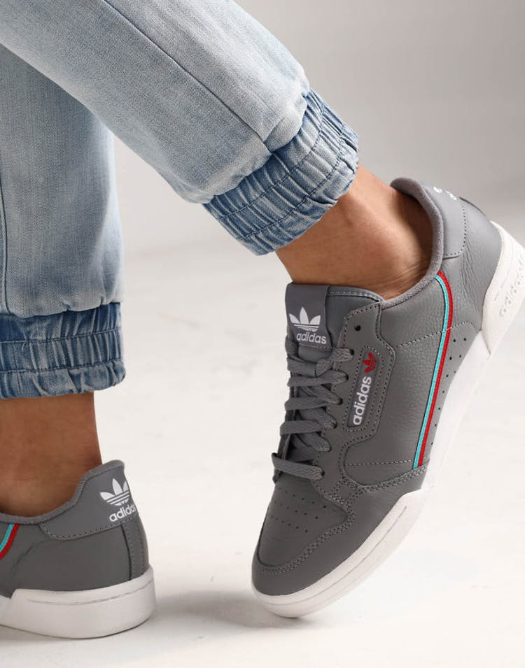 the latest 6afe9 0ada9 Adidas Continental 80 Grey Aqua – Culture Kings