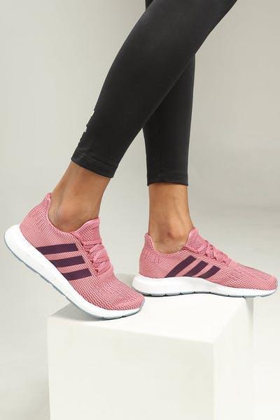132cebce957 Adidas Women s Swift Run Maroon White Black