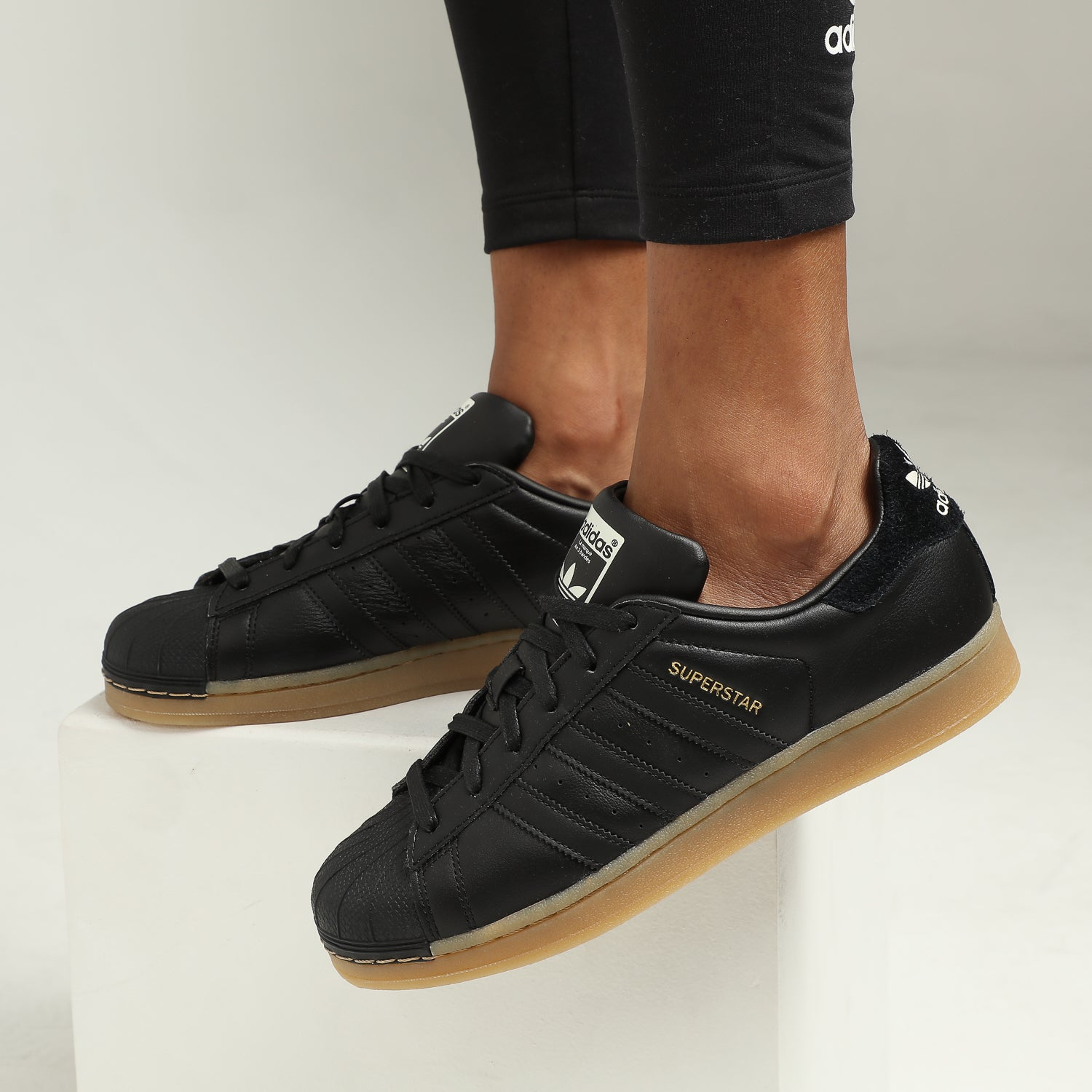 adidas superstar black gum