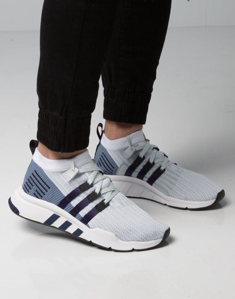 outlet store 6aaf8 12175 Adidas EQT Support Mid ADV Primeknit White Blue Black – Culture Kings