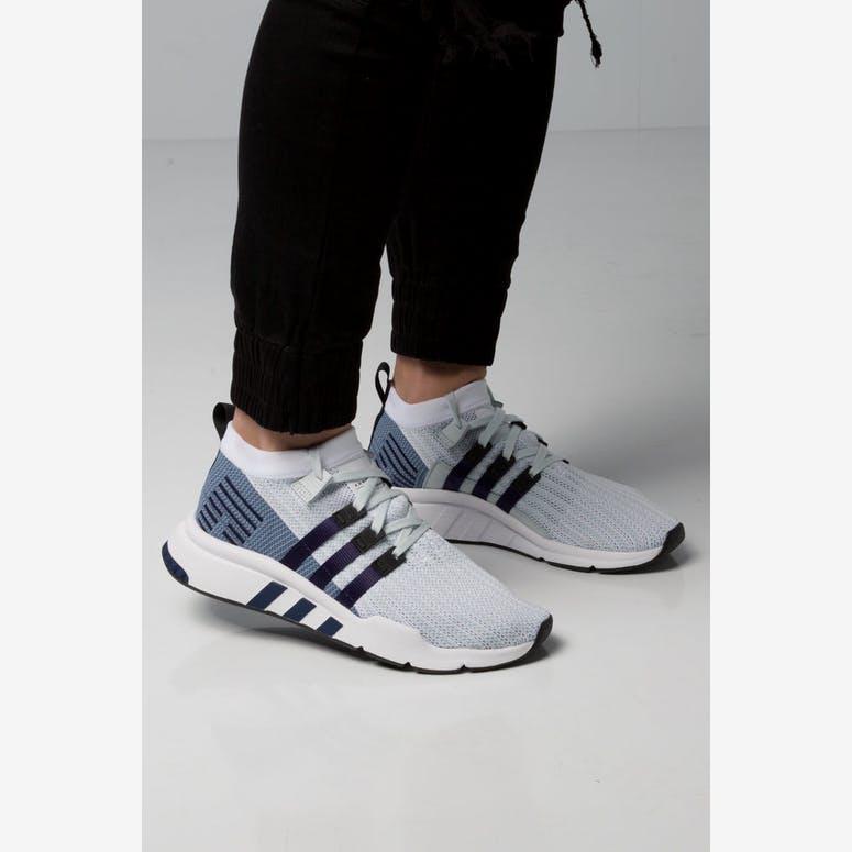 11f27616385 Adidas EQT Support Mid ADV Primeknit White Blue Black – Culture Kings