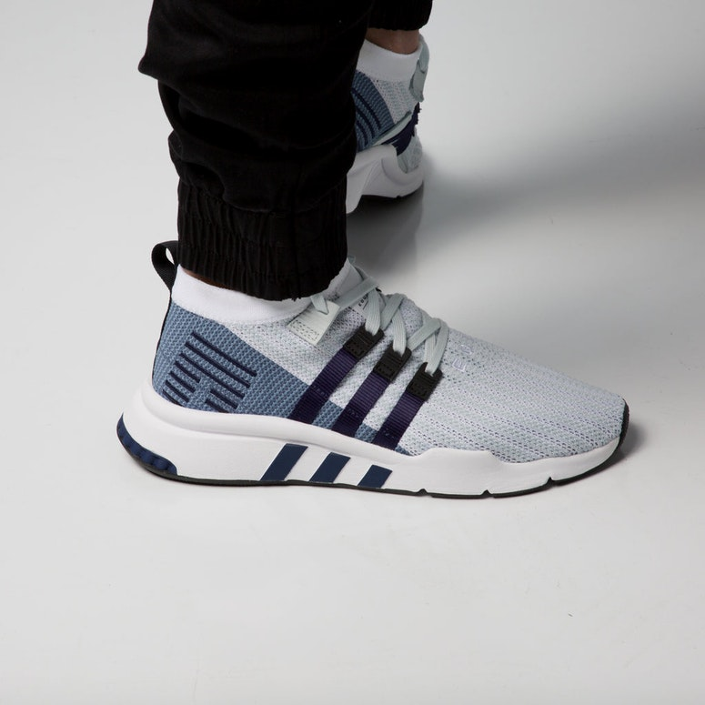 Adidas EQT Support Mid ADV Primeknit White/Blue/Black