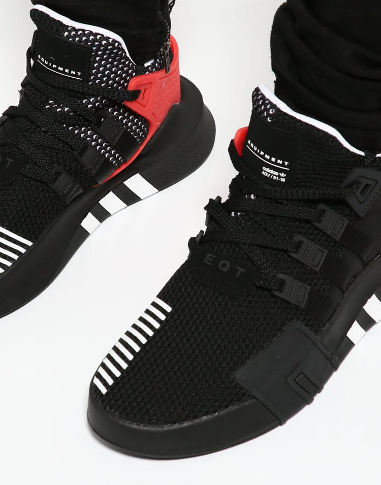 outlet store 25bd9 13997 Adidas Originals EQT BASK ADV Black/White/Red