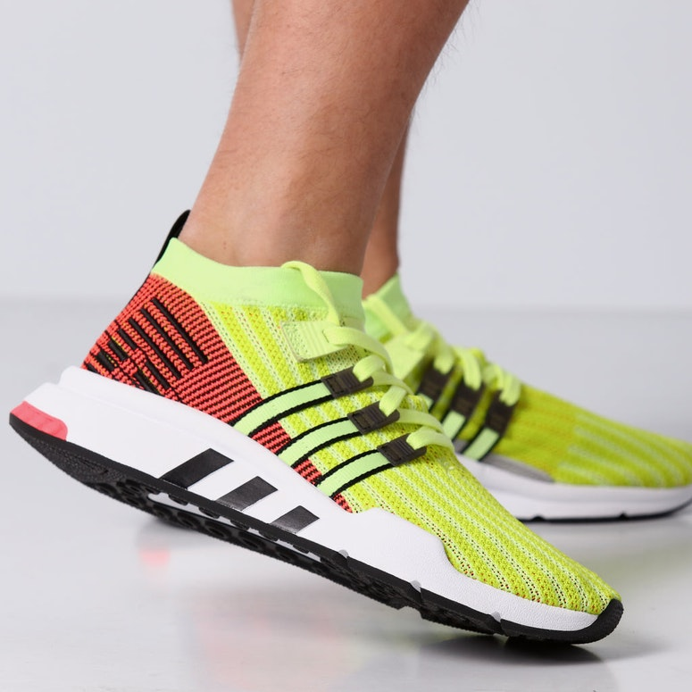 Adidas EQT Support Mid ADV Primeknit Yellow/White/Red