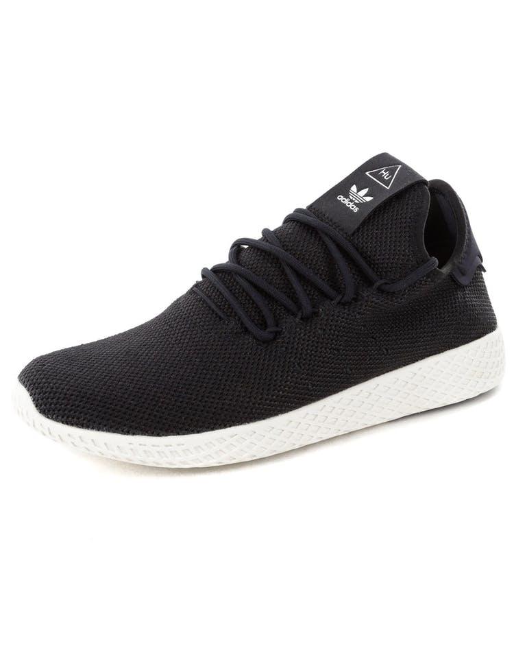 e7e9abd12 Adidas Originals Pharrell Williams Tennis HU Shoe Black White ...