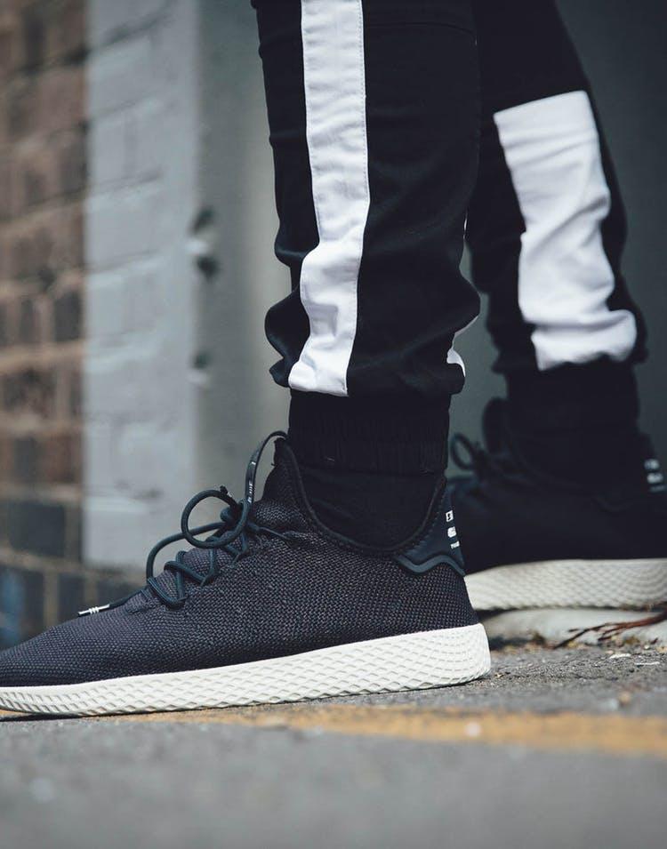93a9caf46729c Adidas Originals Pharrell Williams Tennis HU Shoe Black White ...