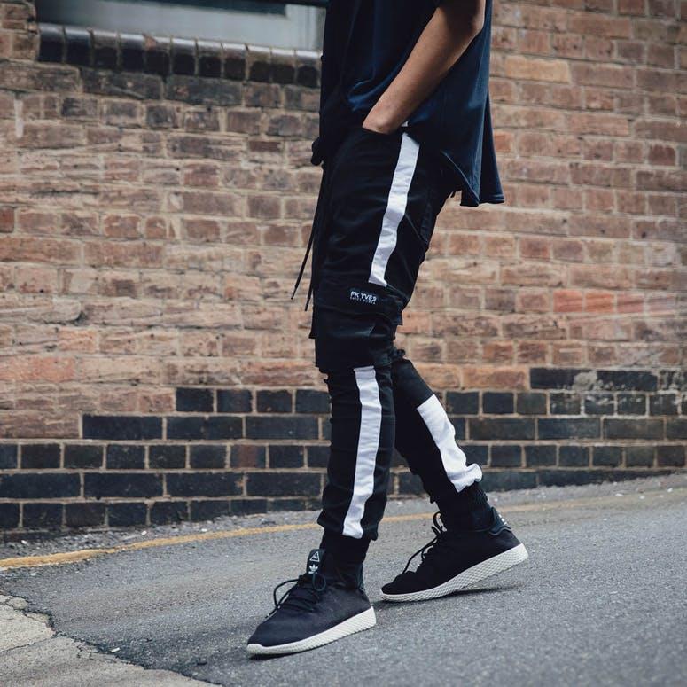 timeless design 3cd0c 36d2d Adidas Originals Pharrell Williams Tennis HU Shoe BlackWhite