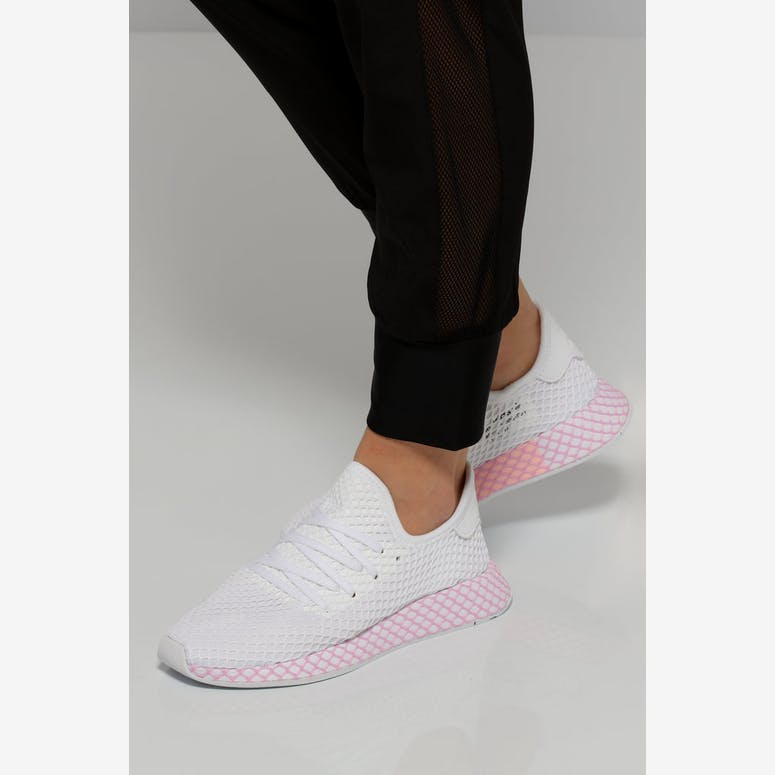 innovative design 5a42b 8292b Adidas Womens Deerupt Runner WhitePink  B37601 – Culture Kin