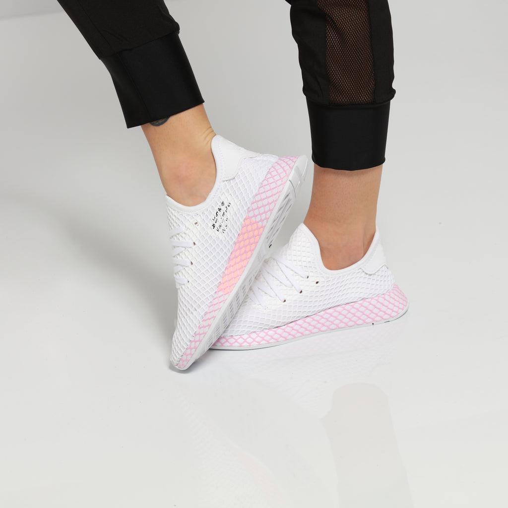 adidas Adi Racer Low Women Trainers WhitePink White Size