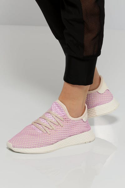 outlet store f74ba 14f42 Adidas Women s Deerupt Runner Pink White