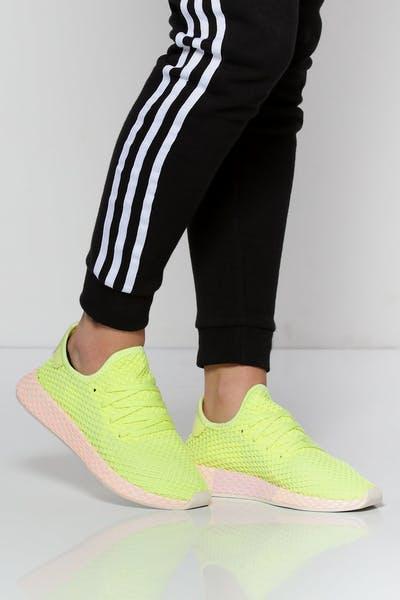 promo code 17127 8f00e Adidas Women s Deerupt Yellow White