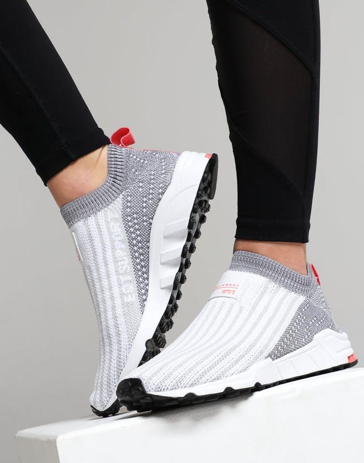 cheaper d8299 5f1c7 Adidas Women's EQT Support SK Primeknit White/Grey