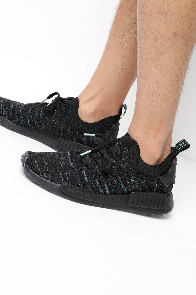 Details about Adidas Originals NMD_R1 STLT Parley PK Core Black Blue Spirit AQ0943 MEN NMD R1