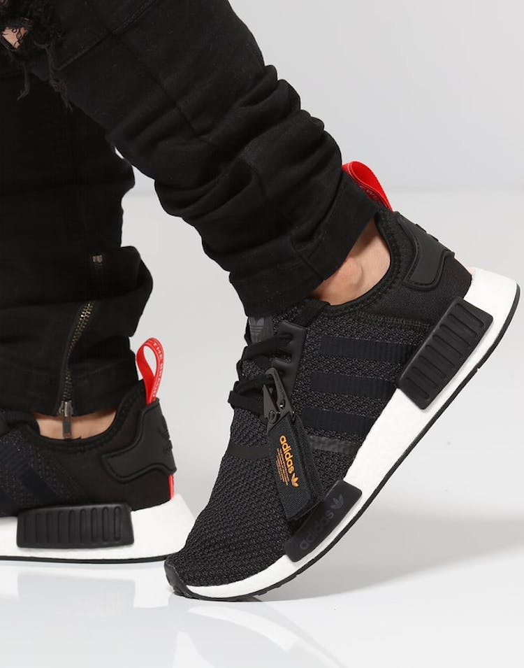 save off ac525 adbb3 Adidas NMD R1 Black White Red   B37621 – Culture Kings