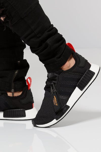 b04f1db823df Adidas NMD R1 Black White Red