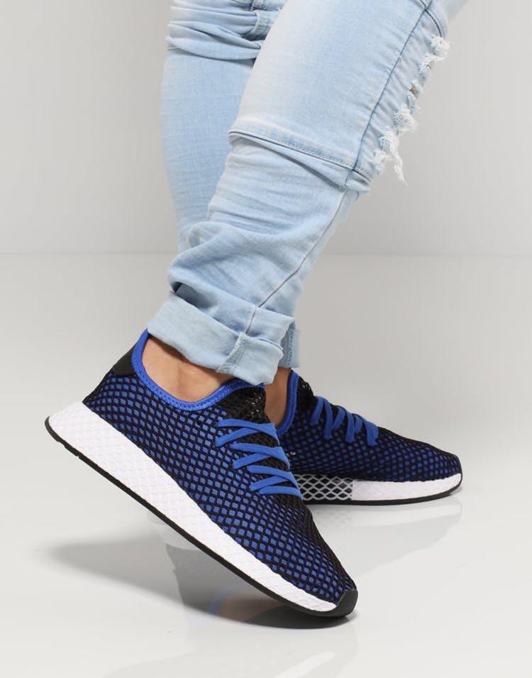 7b55d3149065f Adidas Deerupt Runner Black Blue White