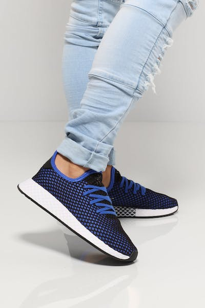 30b23e3d4564f Adidas Deerupt Runner Black Blue White