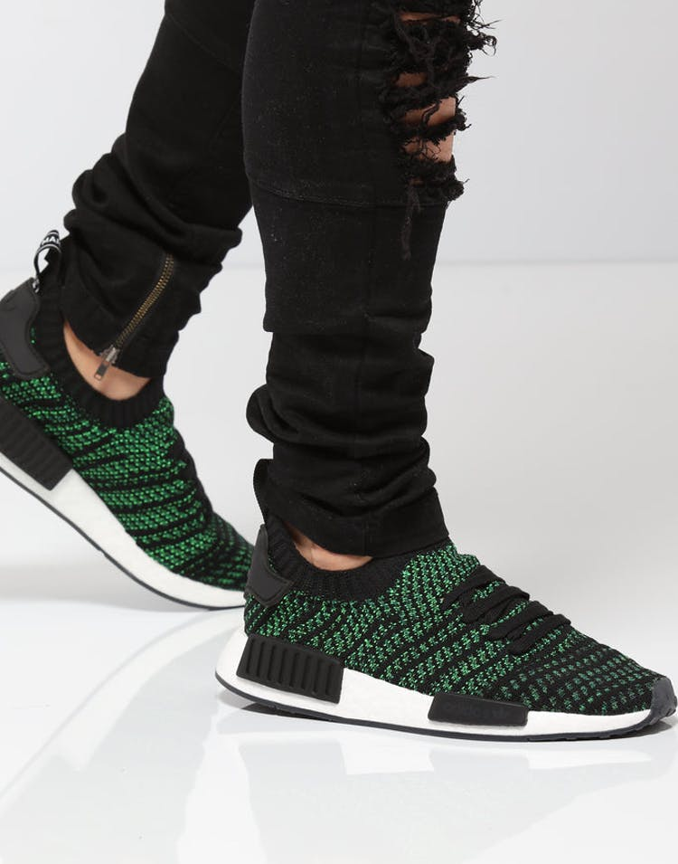 the latest 9f162 ee026 Adidas NMD R1 STLT Primeknit Green/White/Black