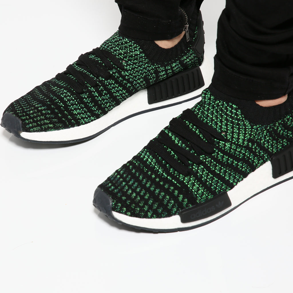 Adidas NMD R1 STLT Primeknit Green/White/Black