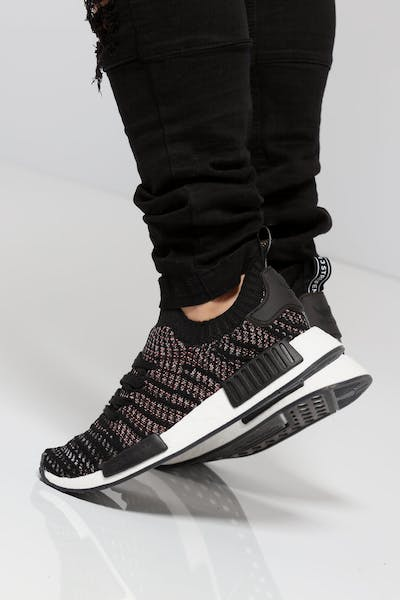 6446be1a0652 Adidas NMD R1 STLT Primeknit Black Multi-Colour