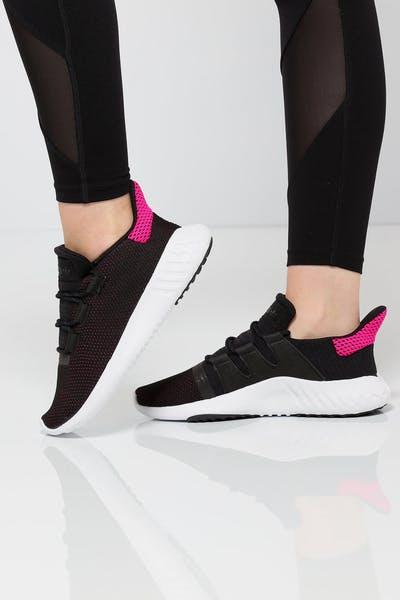 Adidas Women s Tubular Dusk Black White Pink 65280b4e51