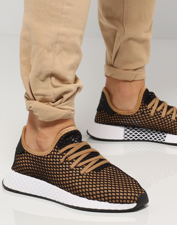 782441ccea466 Adidas Deerupt Runner Black Tan Whitem