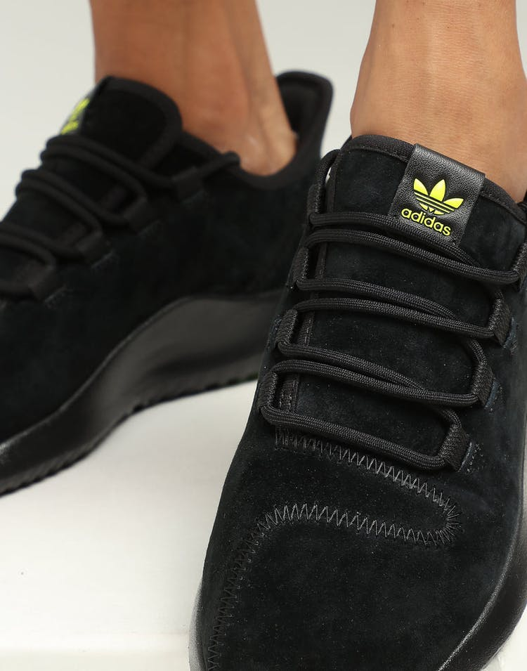 outlet store 1f390 3fdac Adidas Women's Tubular Shadow Black/Yellow/Red