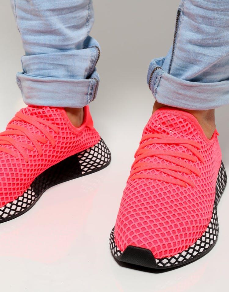 c4546e45f07 Adidas Deerupt Runner Pink White Black
