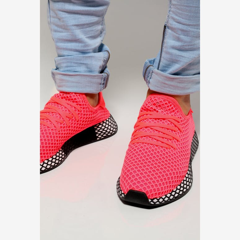 half off e7229 b2cb1 Adidas Deerupt Runner PinkWhiteBlack  B41769 – Culture Kings