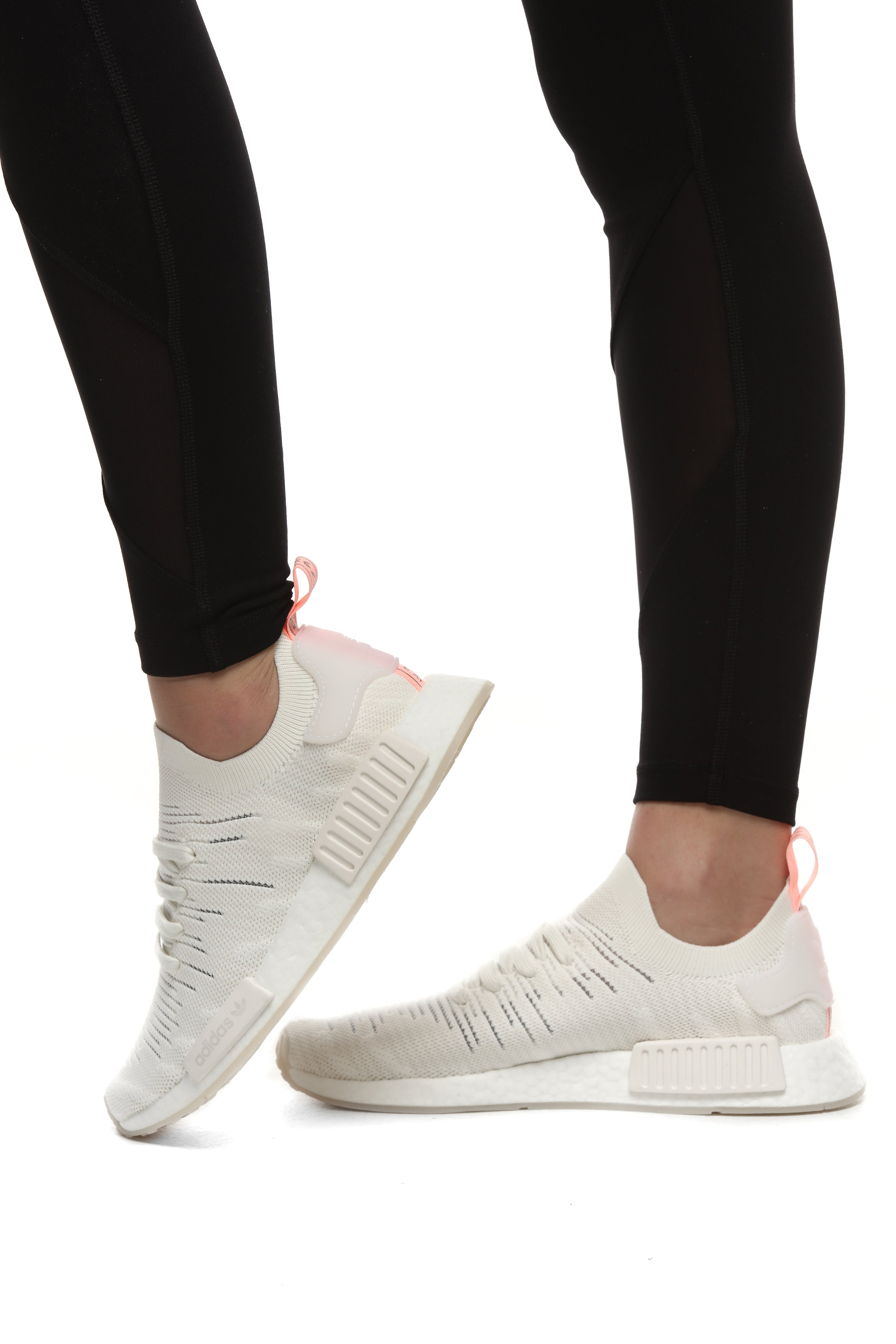 Adidas Women NMD R1 Primeknit CQ2041 GreyWhite Running Shoes
