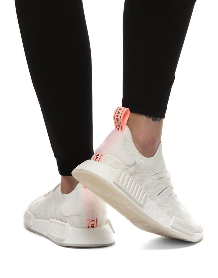 e0d0160ee19b6 Adidas NMD R1 STLT PRIMEKNIT SHOES Grey White