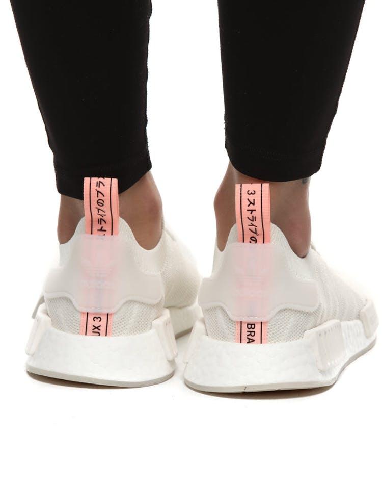 f790cffa7a374 Adidas NMD R1 STLT PRIMEKNIT SHOES Grey White