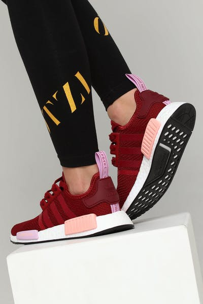 fad4be00214 Adidas Women s NMD R1 Burgundy Burgundy