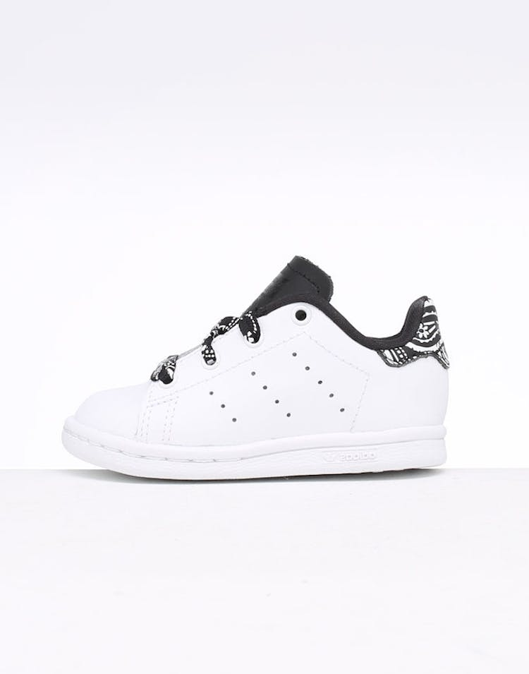 meilleur service b8e32 21e62 Adidas Toddler Stan Smith I White/White/Black