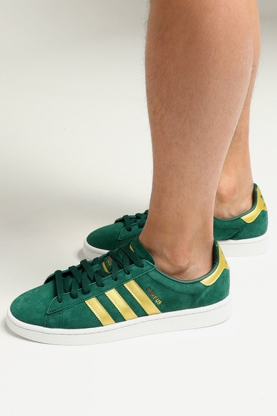Adidas Campus Green/Gold/White