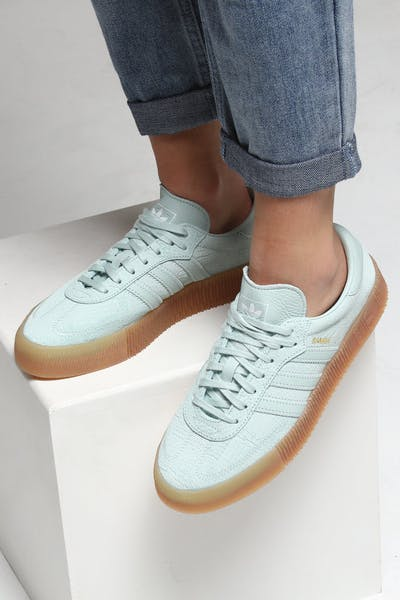 best sneakers c92fe ac372 Adidas Women s Samba Rose Mint Green