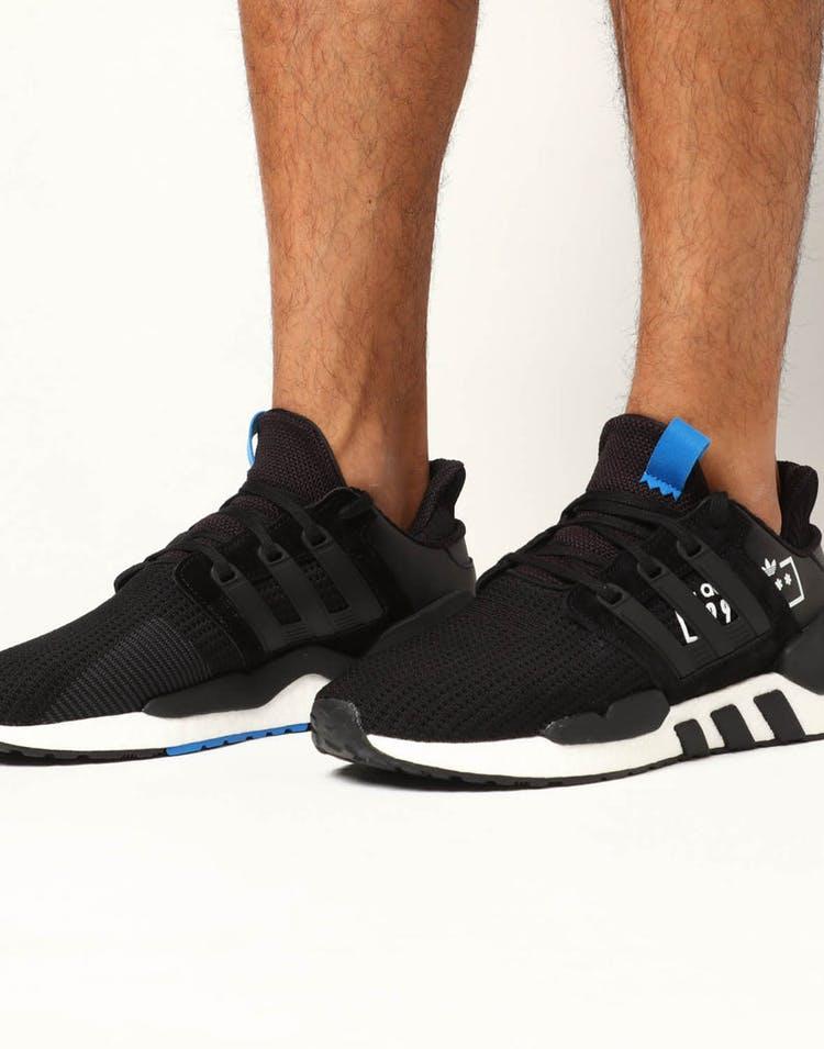 size 40 0a144 8b99c Adidas EQT Support 91/18 Black/Blue