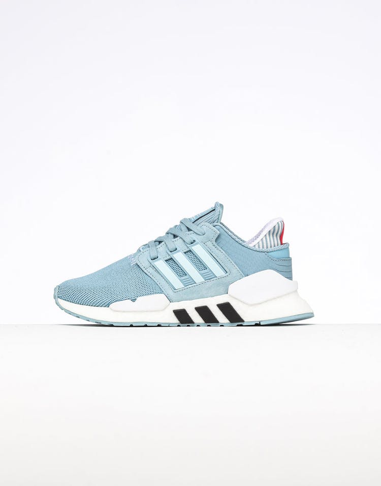 quality design 2def5 3ccef Adidas Women's EQT Support 91/18 Grey/Blue/Black