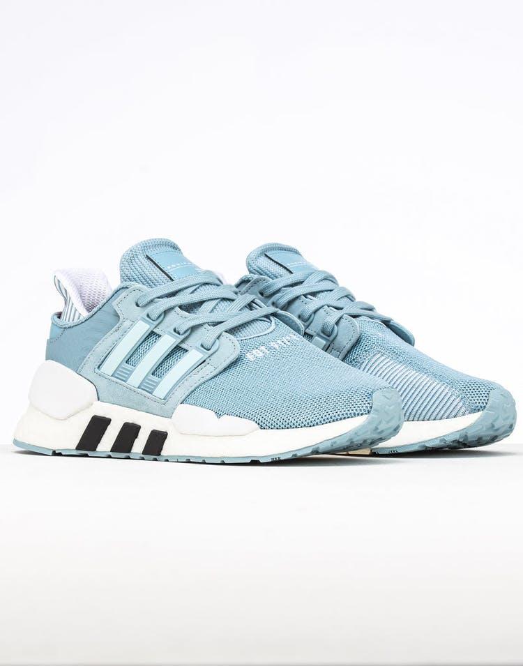 quality design 6e883 9585e Adidas Women's EQT Support 91/18 Grey/Blue/Black