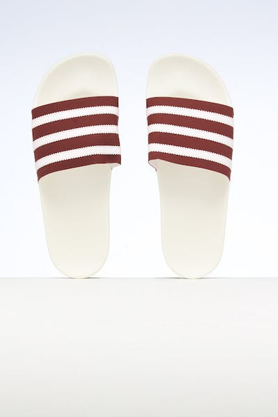Adidas Adilette Burgundy/Off White