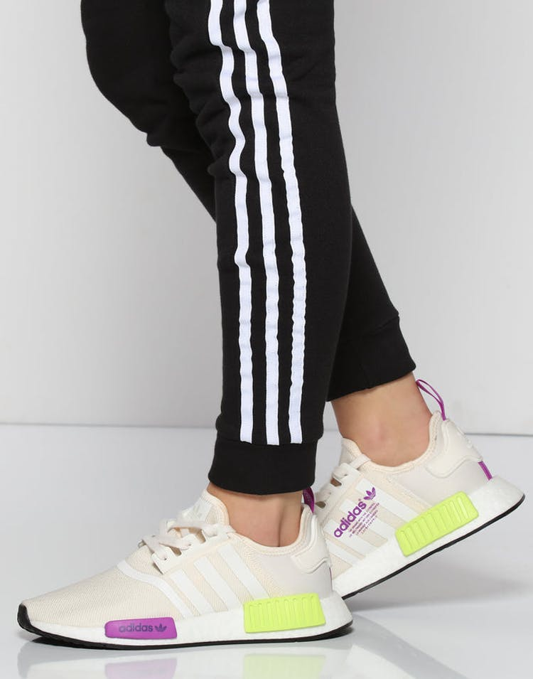 detailed look d60b2 8e048 Adidas NMD R1 Off White Purple   D96626 – Culture Kings
