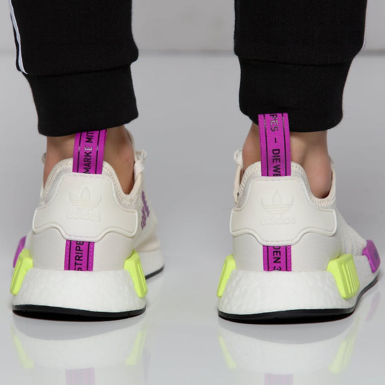 new product 36fdc 5fa94 Adidas NMD R1 Off WhitePurple
