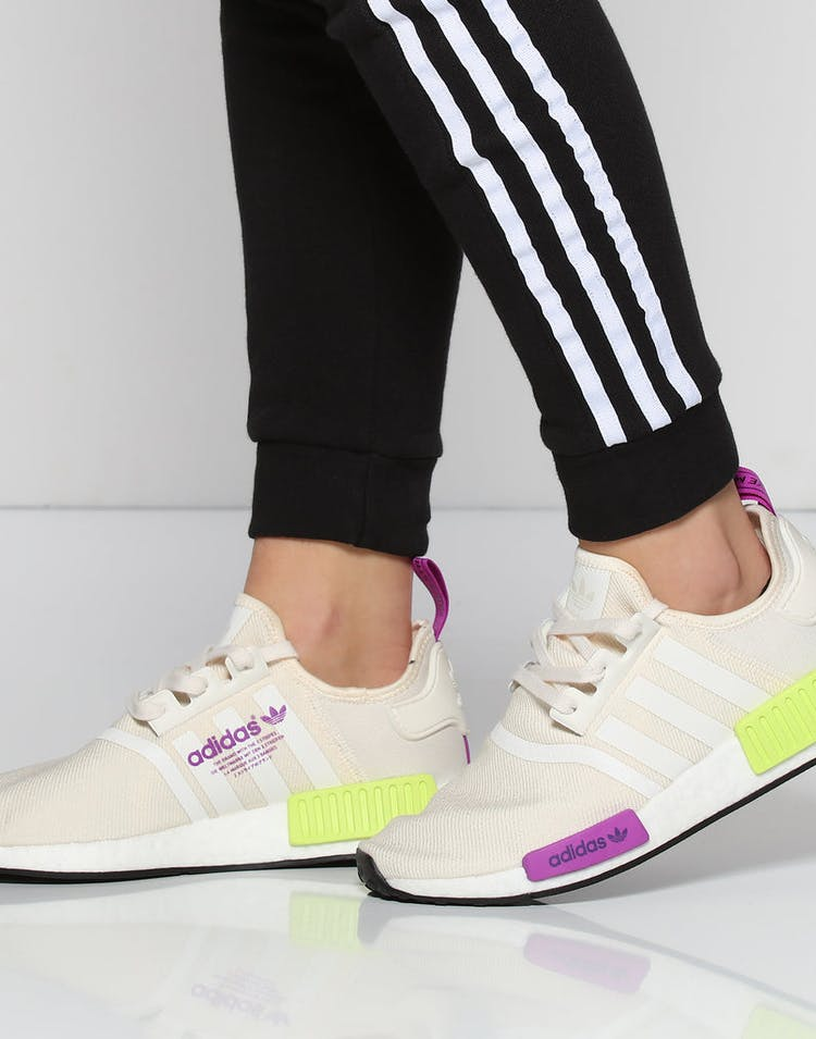 differently 96a38 bcb98 Adidas NMD R1 Off White/Purple