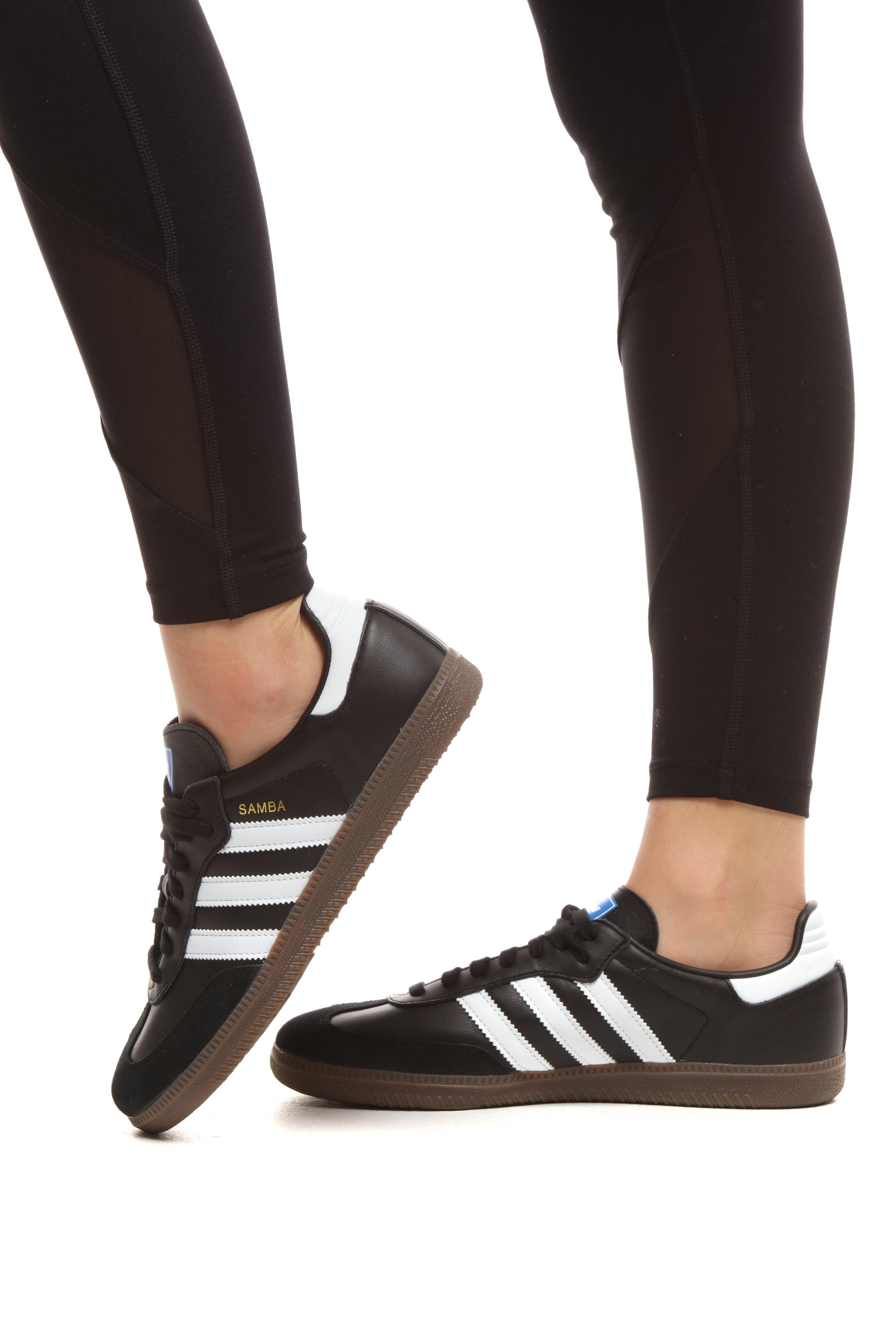Womens adidas Samba OG Athletic Shoe White Black Gum