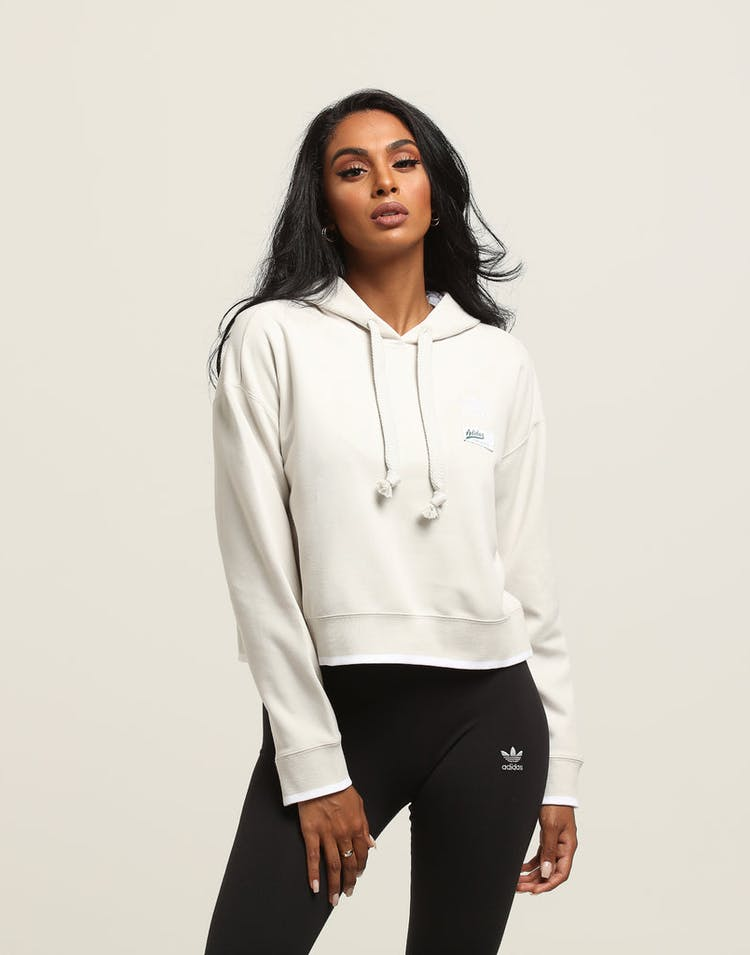 04affdafd7 Adidas Women's Cropped Hoodie Off White
