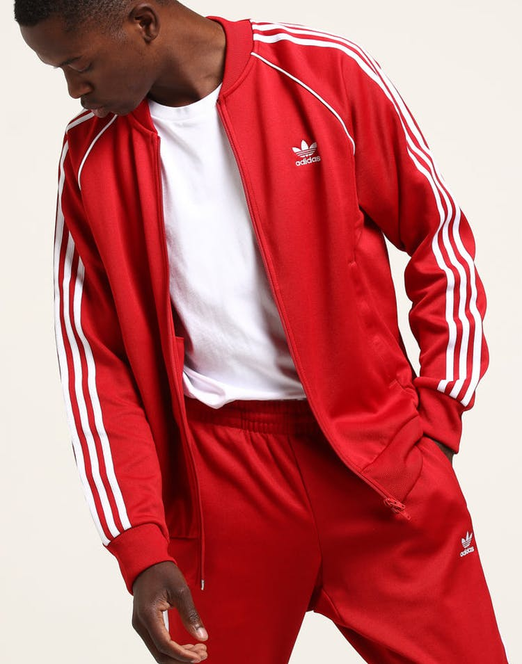 e62f2725c23dbe Adidas SST Track Top Red – Culture Kings