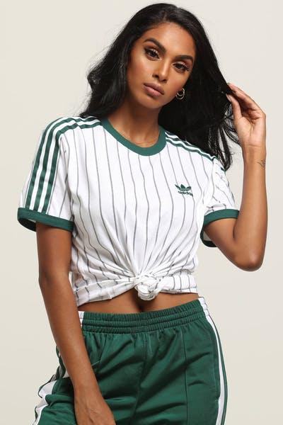 2802ebba7efd43 Adidas Women s Boyfriend Tee White Green