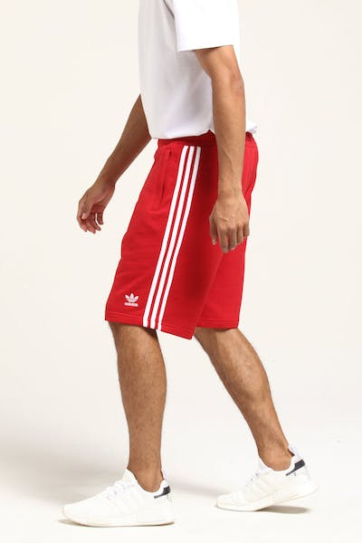 Adidas 3-Stripe Short Red