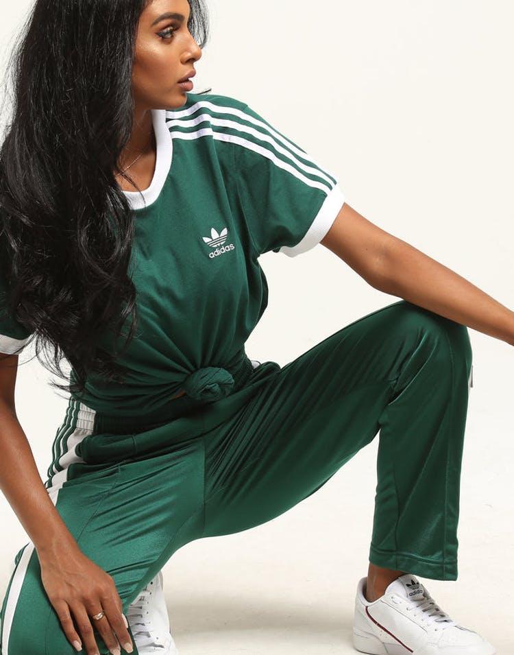 9849669a7f Adidas Women's 3 Stripes Tee Dark Green – Culture Kings